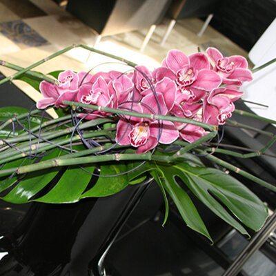 Friss virág dekoráció magánlakásban - orchideacsokor