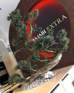 Mű bonsai fa üzletdekoráció