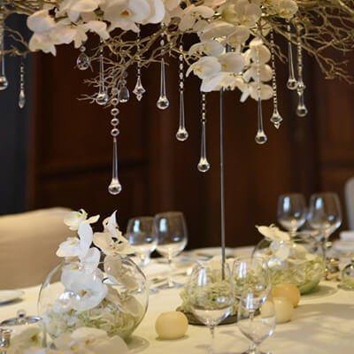 Esküvői dekoráció asztaldísz