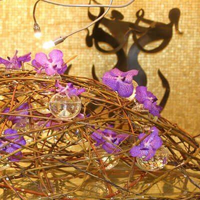 Vanda orchidea szálloda dekoráció Boscolo Hotels Budapest