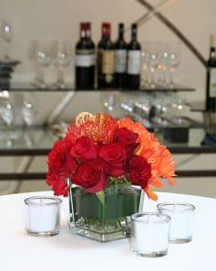 Banquet decoration in orange tone