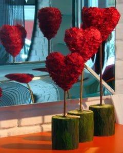 Vermont petal hearts
