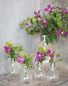 Edison bulb as flower vase
