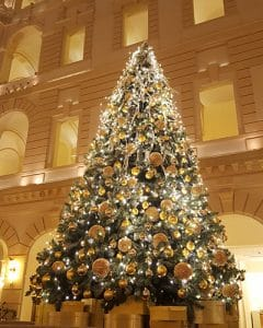 Lobby decoration in Boscolo Hotel at Christmas.