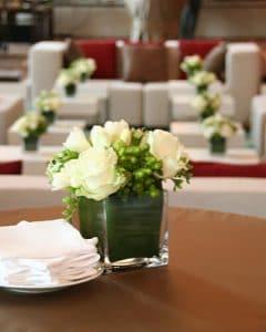 Elegant, white lounge decoration
