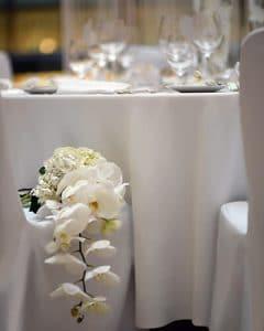 Bridal bouquet made of white phalaenopsis