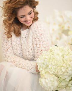 Wedding bouquet of hydrangeas