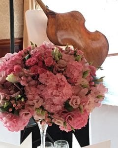 Pink wedding decoration flower cloud