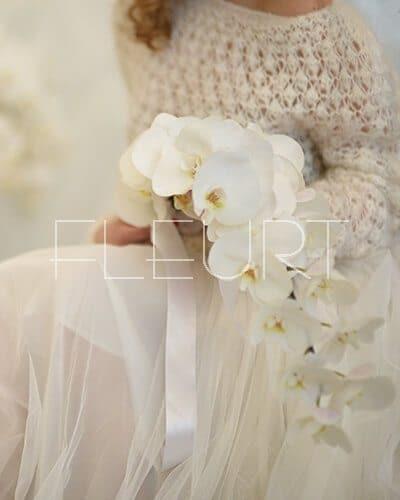 ce83ae184c Fehér esküvői csokor phalaenopsis orchideából