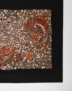 Design falikép bürökből és termésekből