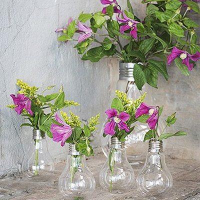 Edison villanykörte formájú váza ajándéktárgy