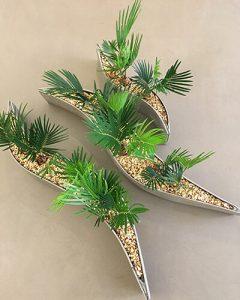 Hullámpala kaspóban mini cycas növények