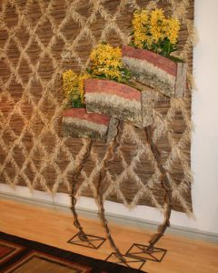 Lakásdekoráció sárga dendrobium orchideákkal design virágdobozokban