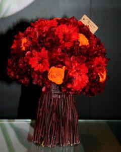 Az ősz színei vemonti csokorban kötve